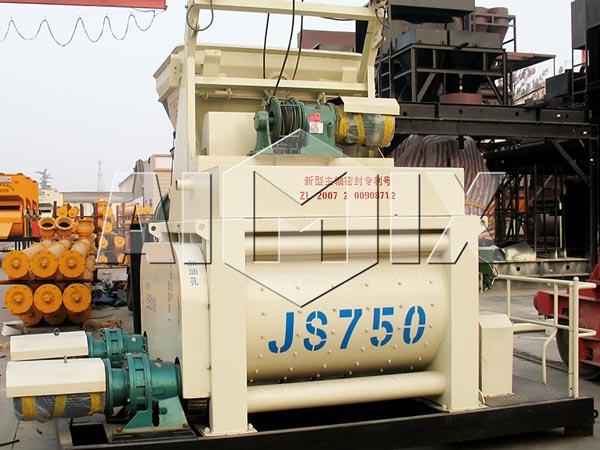 JS750 двухвальный бетоносмеситель