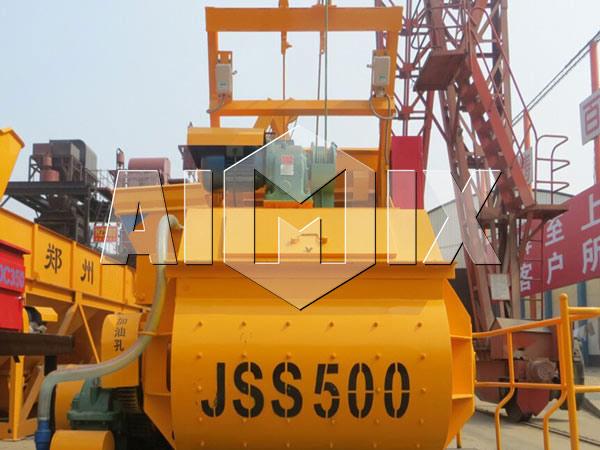 JSS500 Двухвальный бетоносмеситель