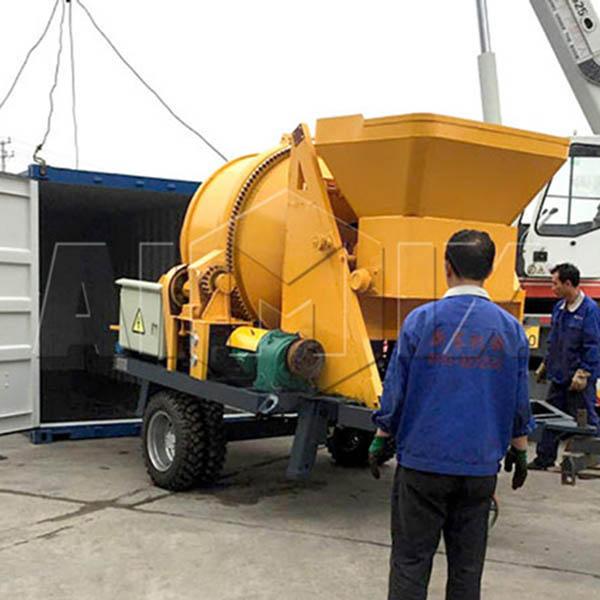 AIMIX JBS30 бетономешалка с насосом была экспортирована в Россию