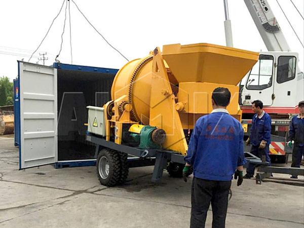 AIMIX JBS30 бетономешалка с насосом было экспортировано в Россию