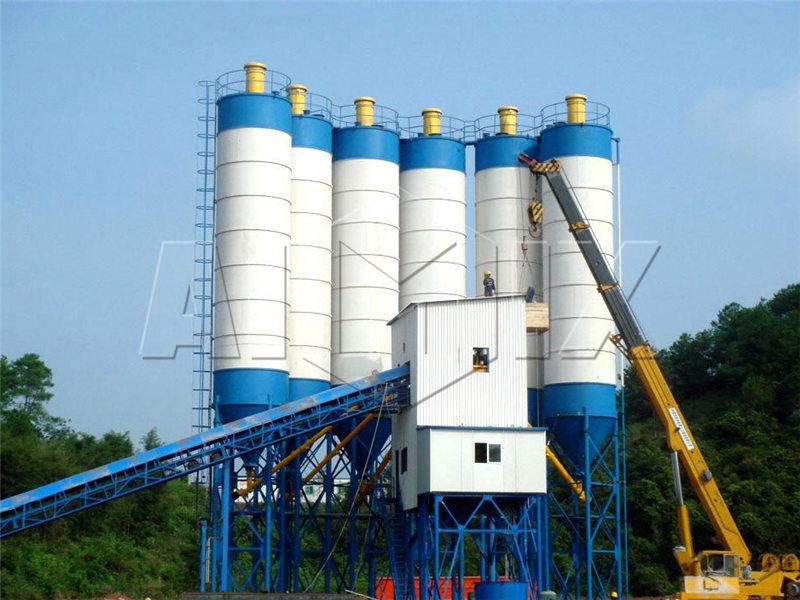 HZS180-бетонный-завод