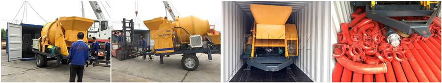 JBS30 бетономешалка с насосом была экспортирована в Россию