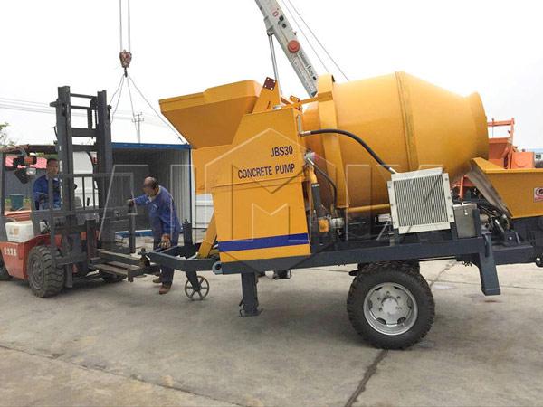 Поставка бетононасоса смесителя AIMIX JBS30 для экспорта