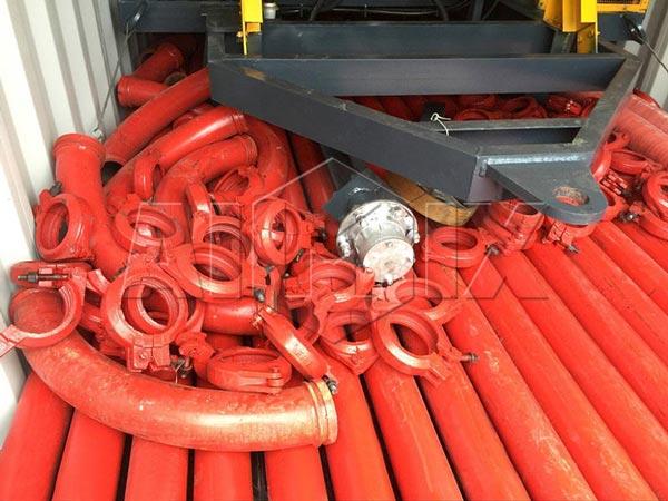 Трубы и зажимы AIMIX бетономешалка насос для продажи