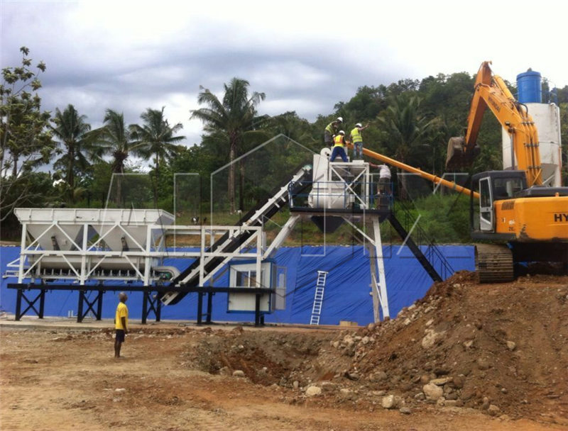 YHZS25 мобильный бетонный-завод