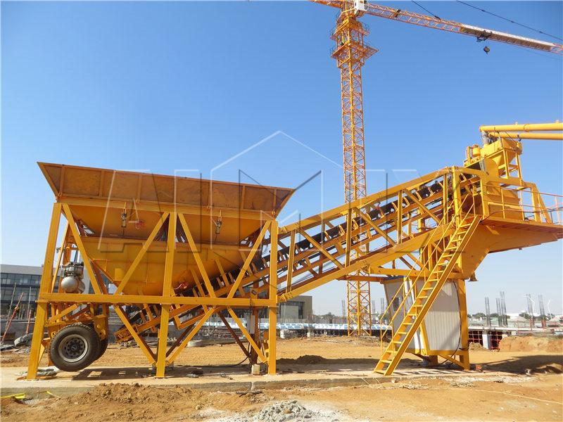 YHZS35 передвижной бетонный завод