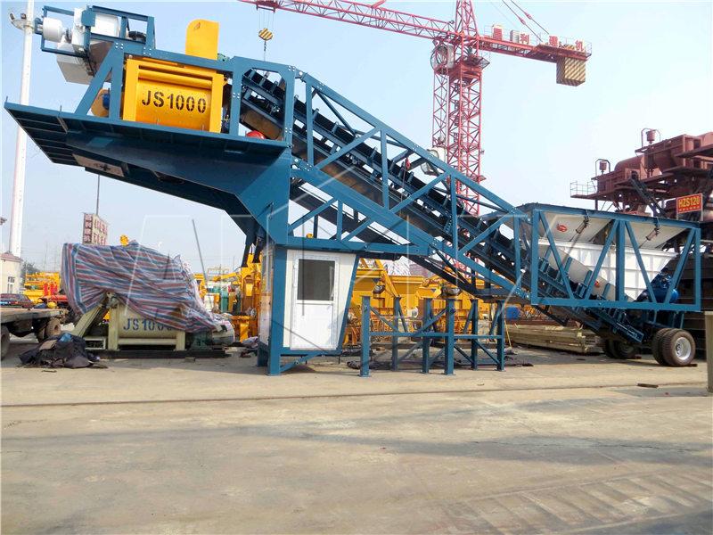 YHZS50 мобильная бетоносмесительная установка