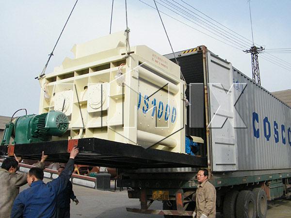 JS1000-двухвальный-бетоносмеситель