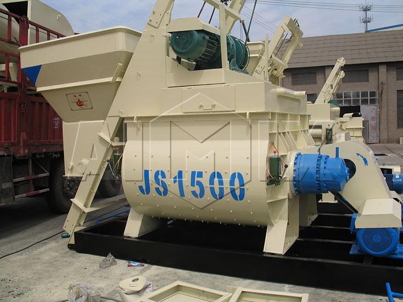 JS1500-Горизонтальный-бетоносмеситель