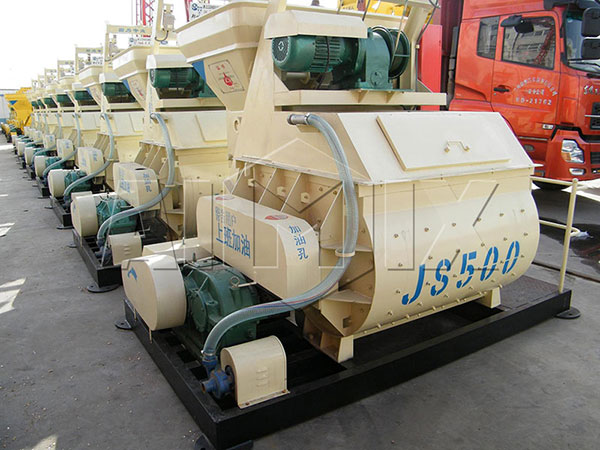 JS500-Горизонтальный-бетоносмеситель