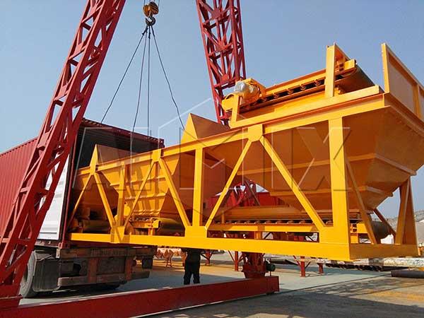 AIMIX бетонный завод транспортировался в Филиппины