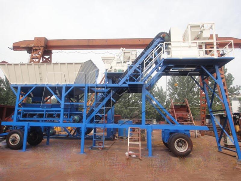 мини мобильный бетонный завод YHZS25