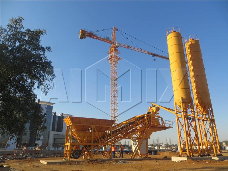 мини мобильный бетонный завод YHZS35