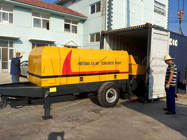 HBTS60-13-90 дизельный бетононасос в россию