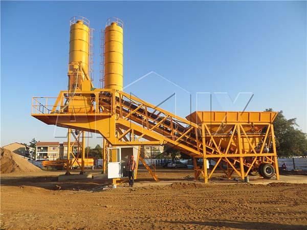 мобильный бетонный завод купить YHZS35