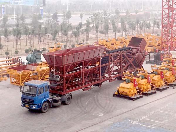 YHZS75 передвижной бетонный завод цена