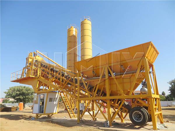 мини передвижной бетонный завод YHZS35