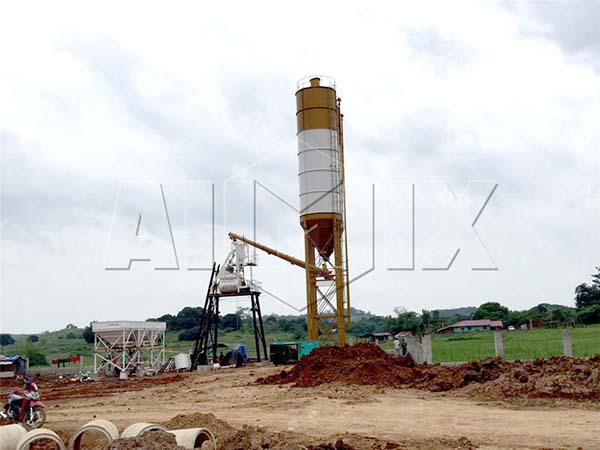 Малый бетонный завод из Китая со скидкой HZS25, HZS35, HZS50