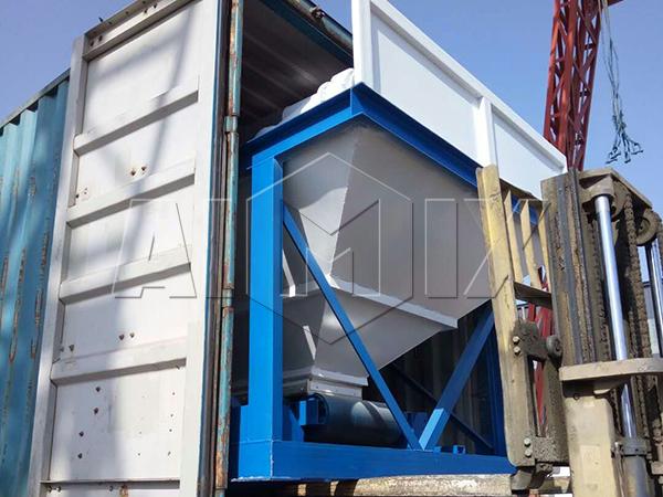 HZS35 компактная бетоносмесительная установка отправлена в Узбекистан