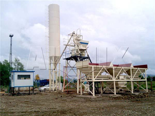 HZS35 мини бетонный смесительный завод