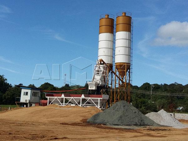 HZS35 стационарная бетоносмесительная установка