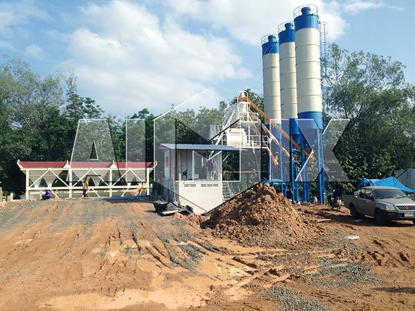 HZS50 Быстровозводимый завод бетона