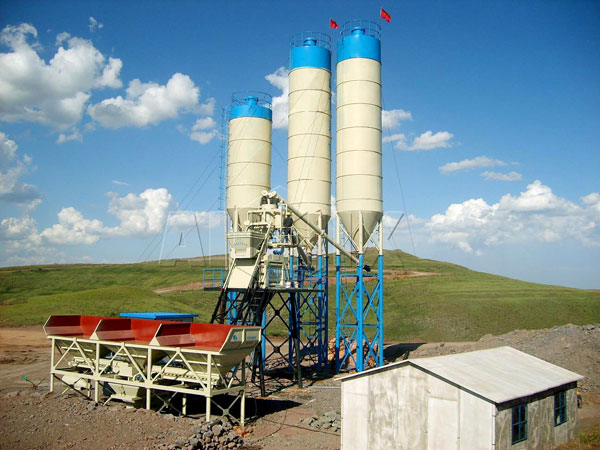HZS50 стационарные бетонные заводы