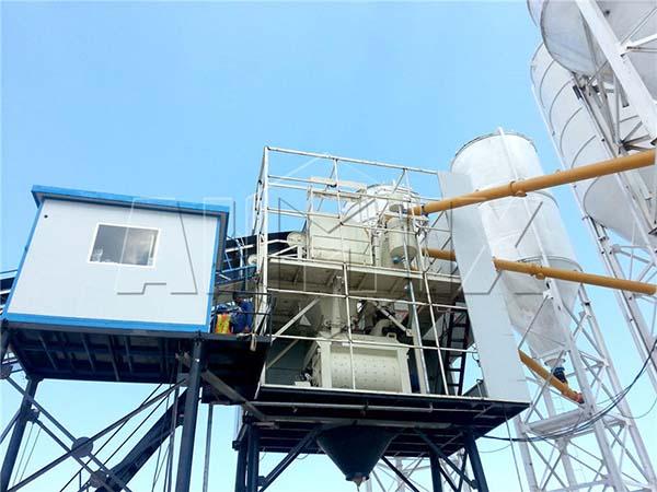 HZS90 крупнейший бетонный завод экспортирован в Филиппины