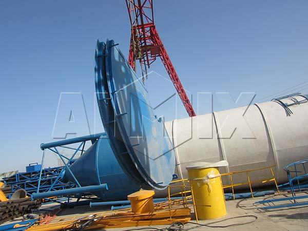Стационарная бетоносмесительная установка HZS35 будет транспортировать в Узбекистан