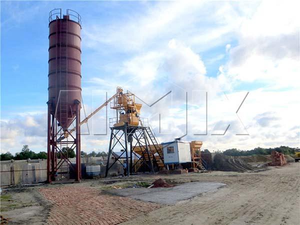 компактная бетоносмесительная установка