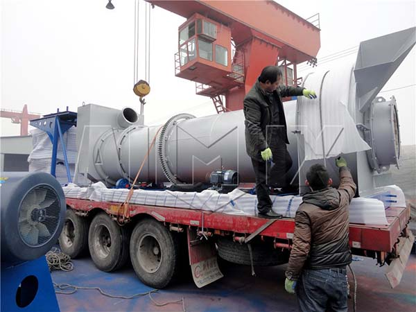 Асфальтобетонный завод DHB 40 барабанного типа был отправлен в Мьянму