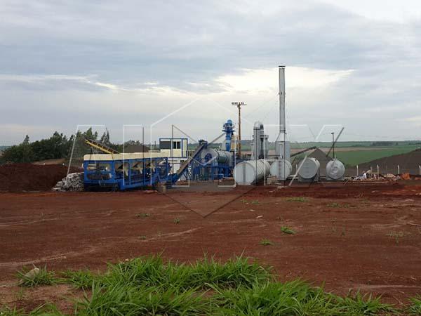 Барабанный асфальтный завод DHB60 в Парагвай