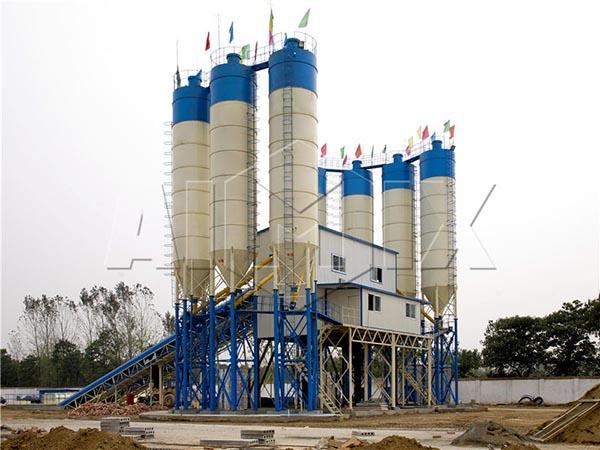 HZS120 модульный бетонный завод