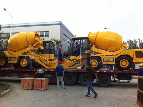 В Индонезию было отправлено три комплекта загрузки бетоносмесителя