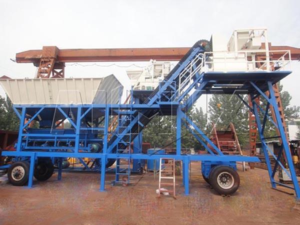 YHZS25 мобильный бетонный завод