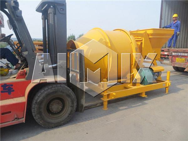 барабанная бетономешалка AIMIX была экспортирована в Сьерра-Леоне