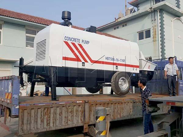дизельный бетонный насос в Вьетнам