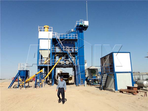 Стационарный асфальтобетонный завод в Узбекистане