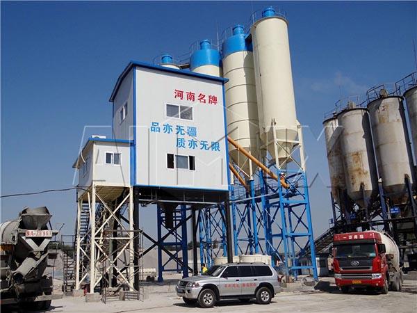 Стационарный модульный бетонный завод