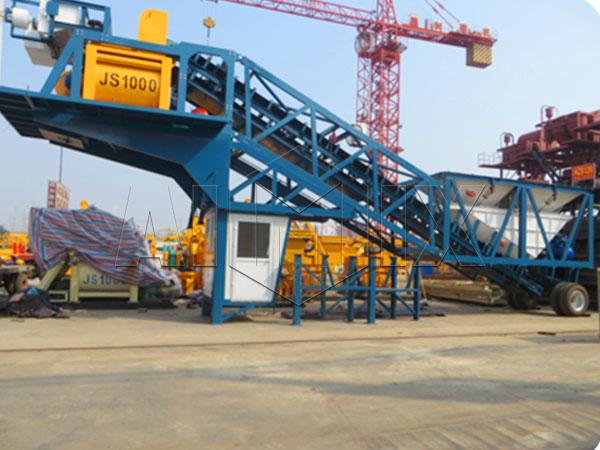 YHZS50 мобильный бетонный завод