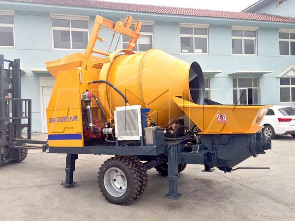 AIMIX JBS40 электрическая бетономешалка с насосом продаётся в Пакистан