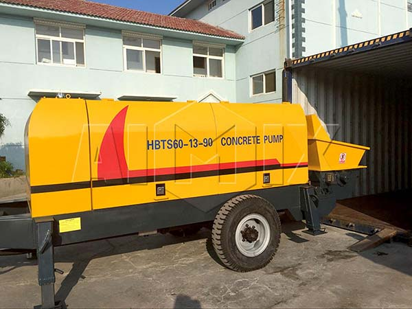 HBTS60 прицепной бетононасос был отправлен на Россию