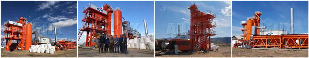 Асфальтобетонный завод LB1000 из компании Aimix работает в России