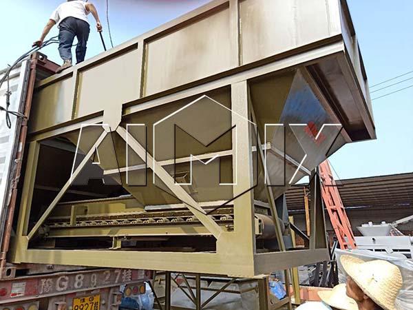 AIMIX бетонный узел был экспортирован в Узбекистан