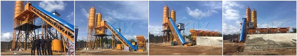 бетоносмесительный завод HZS60 установил на Шри Ланке