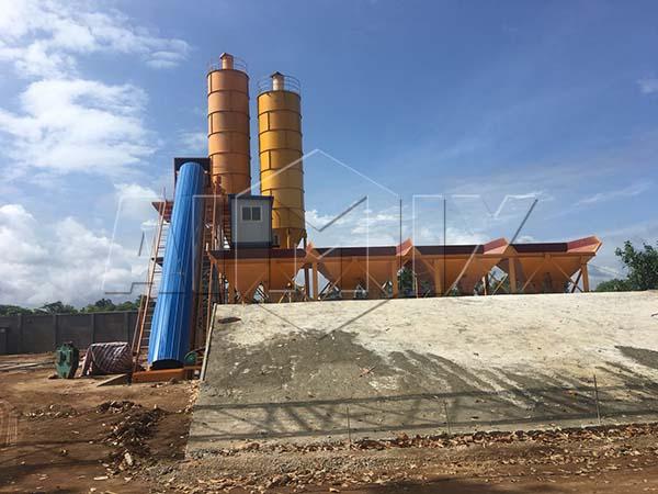 HZS60 бетоносмесительный завод был установлен на Шри-Ланке