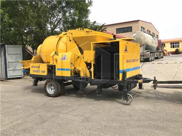 дизельная бетономешалка с насосом JBS40R была отправлена в Филиппины