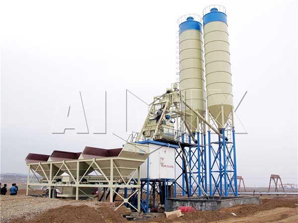 HZS75 стационарный бетонный завод