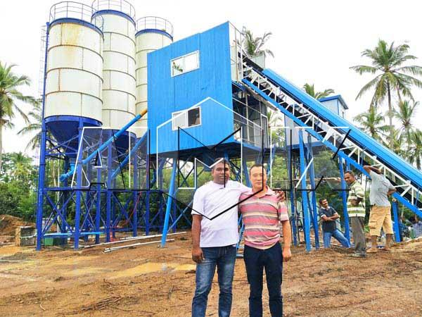 Cтационарный бетонный завод на Шри-Ланке