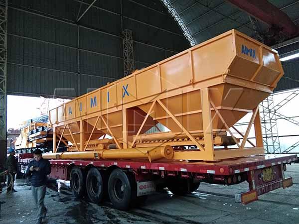 бетонный дозатор - бетонный завод HZS75